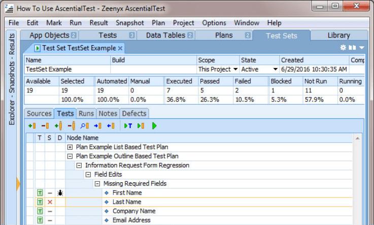 Test Execution Management